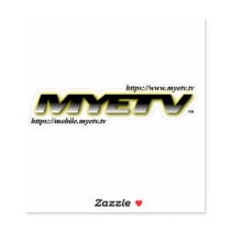 Cut Vinyl Sticker of MYETV