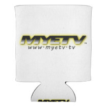 Merchandize with MYETV logo Can Cooler