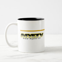 MYETV black and white Goldenrod mug