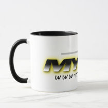 MYETV Black and White mug (simple)