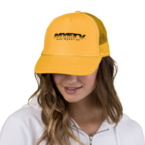 MYETV Gold Trucker Hat with logo