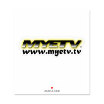 MYETV laptop sticker (transparent/white)