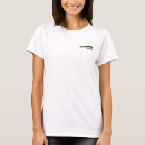 MYETV tshirt (white-woman) with small logo
