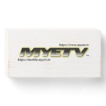 MYETV Wood Plate Wooden Box Sign