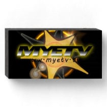 MYETV's Wood Box Sign